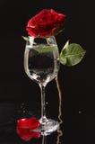 vin en verre de l'eau rose Photos libres de droits