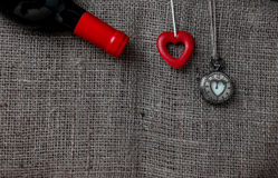 Vin et amour Images libres de droits