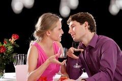 Vin et amour de dîner Photo libre de droits