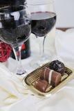 Vin et chocolat Image libre de droits