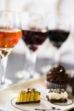 Vin et chocolats Photo libre de droits