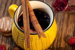 Vin et composition sèche en fruits Photos libres de droits