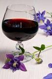 Vin et fleurs Photos libres de droits