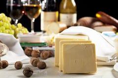 Vin et fromage Photo libre de droits