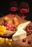 Vin et fromage Photos libres de droits