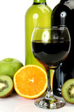 Vin et fruit Images stock