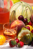 Vin et fruits Image stock