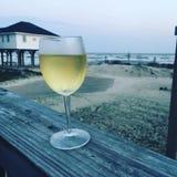Vin et la plage Images stock