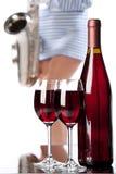 Vin et musique Photo libre de droits