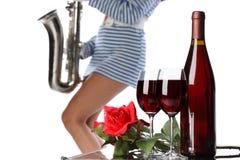Vin et musique Images libres de droits