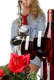 Vin et musique Photographie stock