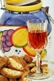 Vin et pain Photo libre de droits