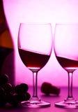 Vin et raisin Image libre de droits