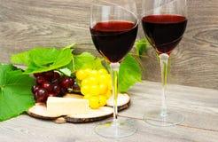 Vin et raisins Photo libre de droits