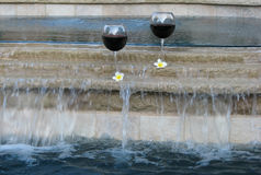 Vin et regroupement Photographie stock