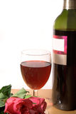 Vin et roses photographie stock