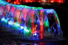Vin-exponeringsglas Shape springbrunnar i Victory Park moscow russia arkivfoton