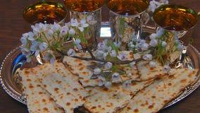 Vin för påskhögtidmatzopåskhögtid arkivfilmer