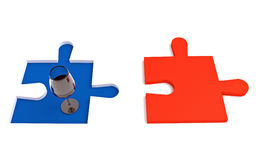 Vin français, puzzle tricolore Photographie stock libre de droits