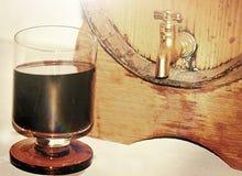 Vin i barrel2en Arkivbild