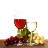 Vin i exponeringsglas Royaltyfri Foto