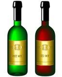 Vin illustré de bouteille Image stock