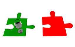 Vin italien, puzzle de drapeau Photographie stock libre de droits