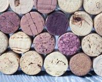 Vin korkar samlingen med olika texturer Arkivbild