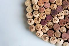 Vin korkar textur för rund sektor royaltyfria foton