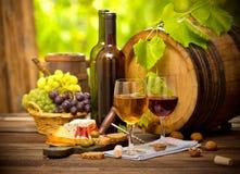 Vin och ost arkivbild