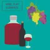 Vin plant element Arkivfoton