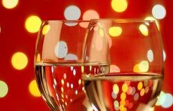 vin romantique de configuration en verre photos libres de droits