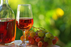 Vin rosé portugais. Image libre de droits