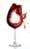 Vin rouge dans le verre Photos libres de droits