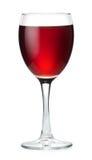 Vin rouge dans un verre d'isolement sur le blanc avec le chemin d'agrafe Images libres de droits