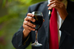 Vin rouge de Baikal de félicitations Image stock