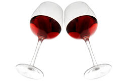 Vin rouge de dessous photo libre de droits