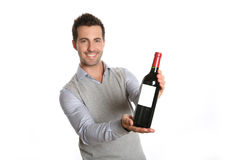 Vin rouge de goût Photographie stock libre de droits