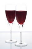 Vin rouge de pétillement élégant Photos stock