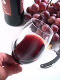 Vin rouge de réserve de Chianti, glace, raisins image libre de droits