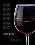 Vin rouge de raisin Image libre de droits