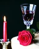 Vin rouge de Rose Photo libre de droits