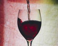 Vin rouge en glace photo libre de droits