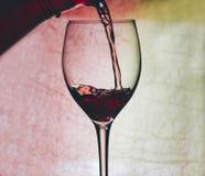 Vin rouge en glace photos libres de droits