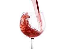 Vin rouge en verre Image stock