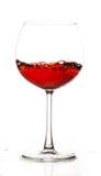 Vin rouge en verre Photographie stock libre de droits