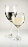 Vin rouge et blanc Image stock