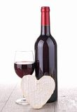 Vin rouge et fromage Image stock
