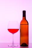 Vin rouge et glace de vin Photographie stock libre de droits