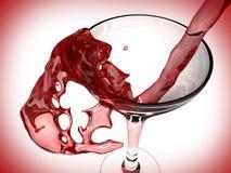 Vin rouge et glace de vin Photos libres de droits